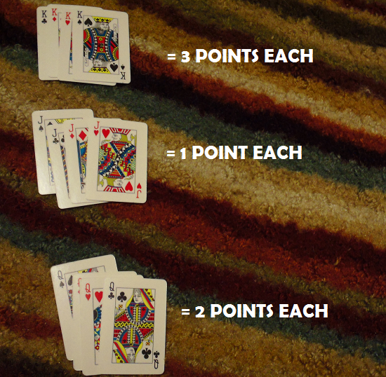 Make 10 - Face card point values.
